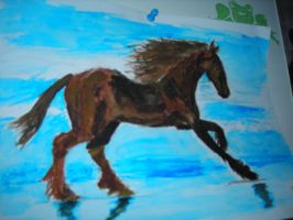 Watercolor Horse by DarthJader11