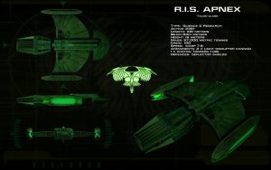 Romulan Science Vessel ortho - RIS Apnex by unusualsuspex