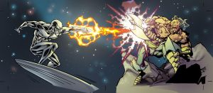 The Silver Surfer X Morg by chriswalkerart