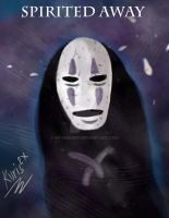 No Face from Spirited Away by  Hayao Miyazaki by skysdlimit