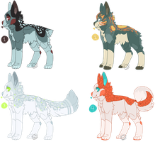 spotted wolves  [ ADOPTS / CLOSED ] by snarkbait