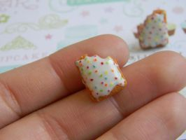 PopTart Studs-Flavor: Frosted Strawberry by ThePetiteShop