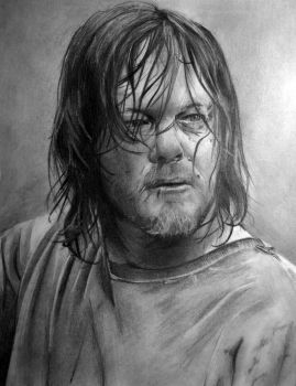 Daryl - The Walking Dead by DamianJarzabek