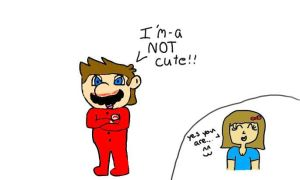 mario in footie pjs ^^ by MarioXMariana
