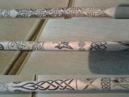 Staff with celtic pyrography (1) by AnzuFP