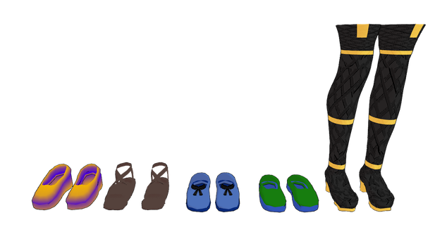 MMD MB shoes pack 1 by mbarnesMMD