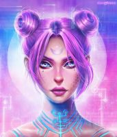 CYBER GIRL by EvaKosmos