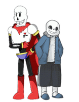 Skelebros - Collab + Pagedoll ~ by Demonic-Trash