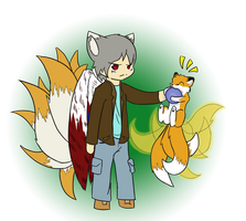 Commision Chibi ( Ryu and Kit ) by NevermoreFox