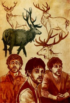 Stags by kimiko