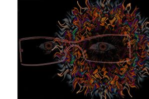 Self as an alien with glasses by Aspartam