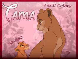 Tama adult and cub colors by DJ88
