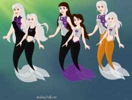 Jade,Jaxde,and Xremba as mermaids (kids and adults by light18258