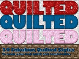 Quilted Photoshop Styles by suztv
