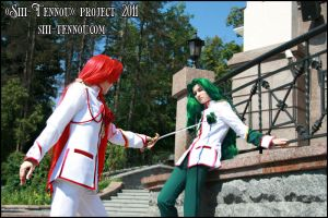 Touga and Saionji. Duel. by Vaishravana