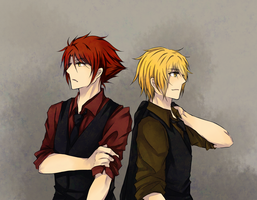I-Finders_man in suits 2 by AquaYume