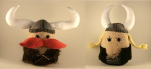 Viking Plushies by Saint-Angel