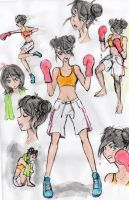 fighter boxe! - colourful version by lenaS2anime