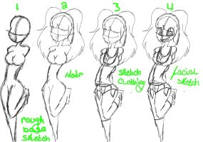 how to: Teen female by mintycandycanes