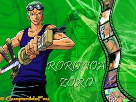 Wallpaper of Roronoa Zoro by GueparddeFeu