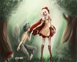 Red Riding Hood And The Wolf by Pummi-Gummi