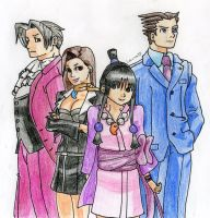 Phoenix Wright and Co. by Mushroom-Cookie