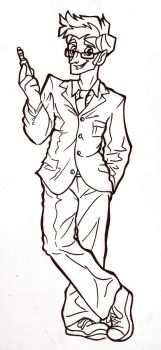 Tenth Doctor Inked by AlexandraBowmanArt