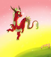Asian Dragoness by Insaneus