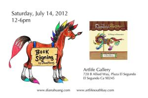 The Elemental Horses Book Signing flier by Diana-Huang