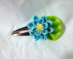 Blue water lily clip by EruwaedhielElleth