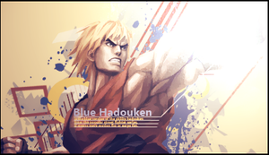 Blue Hadouken Signature by murr3