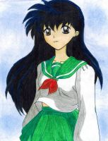 :kagome redrawn: by AngelStreetNo23Lover
