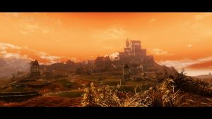 Whiterun at dusk by skyrimphotographer