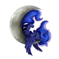 Lun'-Lun' on da' Moon-Moon by tctwig