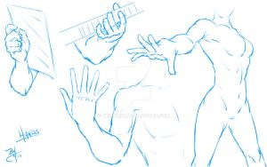 Hands Sketch by TR1Byron