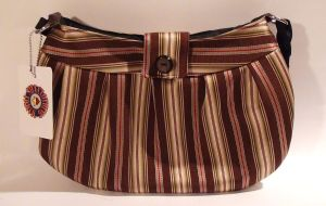 Brown and Beige Striped Purse ON SALE! by MammaShaClothing