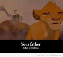 Your father .... is full of proteins by jeanmouloude
