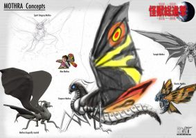 Mothra Concepts by LDN-RDNT