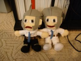 Handsome Bro plushies by Anna-aurion