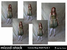 Green Rag Doll Pack 1 by mizzd-stock