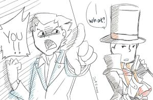 Fanart [Phoenix and Dark Layton] by Vanes-VIP