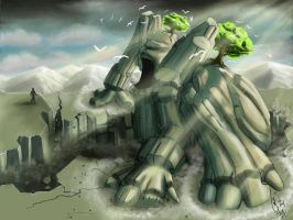 Earth Colossus by SilverdragonAmai