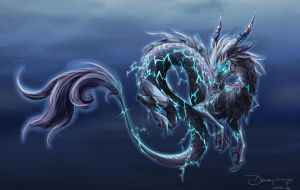 The Thundering Onyx Cloud Serpent by DaisyOnyx