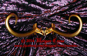 Lady Loki Inspired Golden Horned Cosplay Diadem 3 by MorganCrone