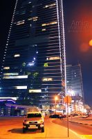Sheikh Zayed road at night new edition 2 by amirajuli