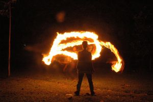 fire lightpaint session @ POLBAN #11 by personalstash