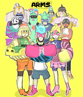 ARMS: Character Roster - Doodle by AlSanya