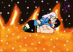 Snow Meets Fire (Contest Entry) by VanePyroRocker