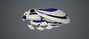 V-ray Scarab  Blueglass Material by 3DV8ion