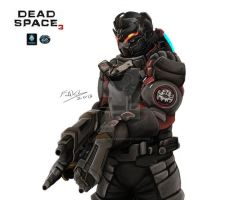 Dead Space 3: John Carver by Fahad-Naeem